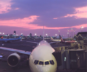 airplane, airport, and pretty image