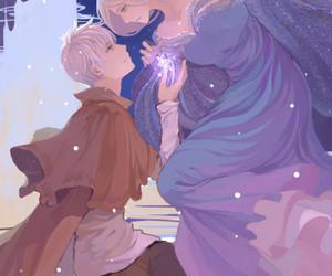 jelsa, stolen art, and frozen elsa x jack frost image