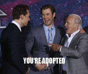 thor, funny, and loki image