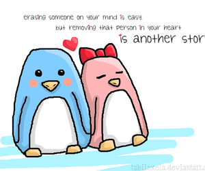 penguin love image