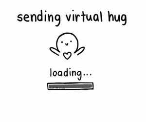 hug, virtual, and loading image