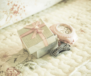 bow, pink, and vintage image