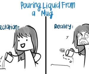 funny, mug, and reality image