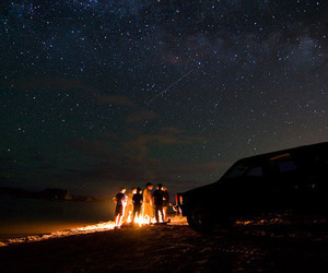 fire, stars, and awesome image
