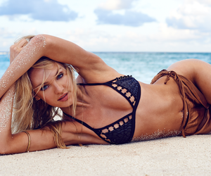 candice swanepoel, beach, and model image