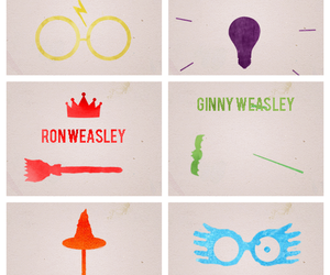 gina, harry potter, and hermione image