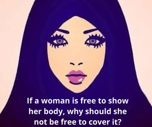cover, hijab, and freedom image