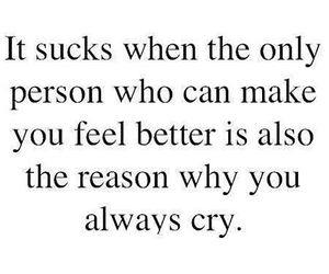 cry, quotes, and love image