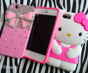 hello kitty, iphone, and iphone 5 image