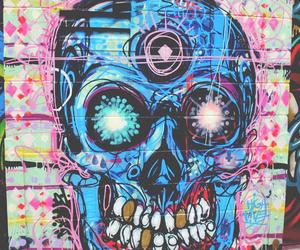skull, art, and graffiti image