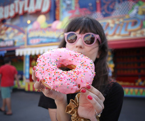 donuts, girl, and food image