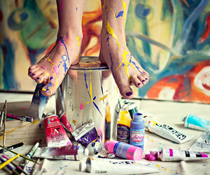 feet and paint image