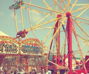 fun, carnival, and ferris wheel image