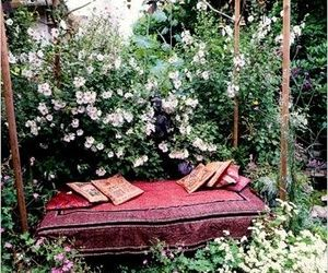 flowers, bed, and garden image