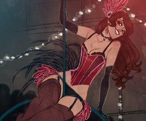 girl, burlesque, and drawing image