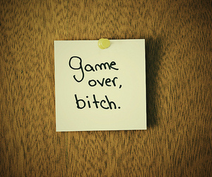 bitch, game over, and game image