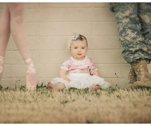 baby, ballet, and army image