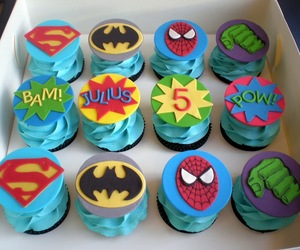 cupcake and spiderman image