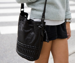 bag, black, and black and white image