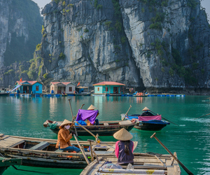 Vietnam, travel, and boat image