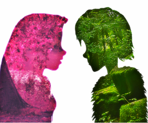 disney, green, and pink image