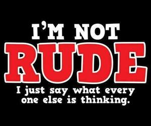 quote, rude, and life image