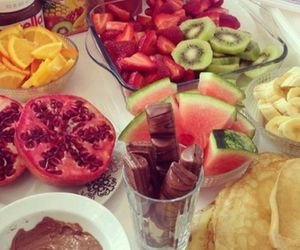 fruit, food, and chocolate image
