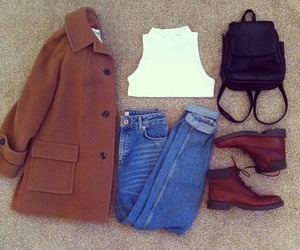 ideas, jacket, and white crop top image