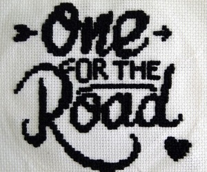 cross stitch and one for the road image