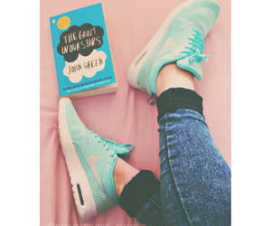 nike, book, and john green image