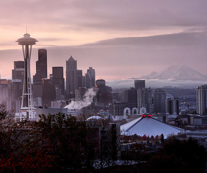 city, Space Needle, and downtown image