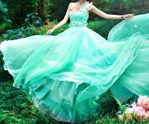 dress, green, and blue image
