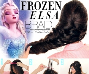 braid, style, and elsa image