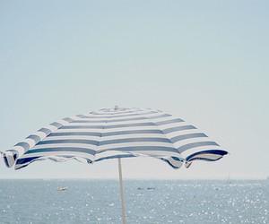 umbrella, beach, and sea image