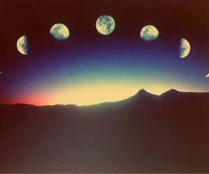 colours, hipster, and moon image