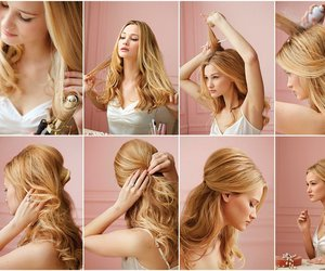 blonde, hair, and tutorial image