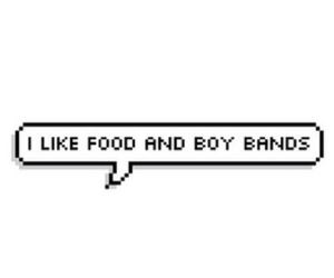 food, boy bands, and band image