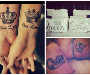 tattoo, love, and king image