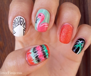 nails, nail art, and girly image