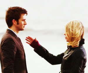 billie piper, david tennant, and tenth doctor image