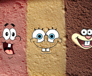 ice cream, patrick, and spongebob image
