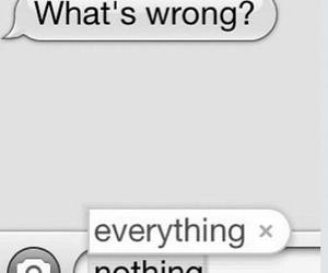 everything, nothing, and wrong image