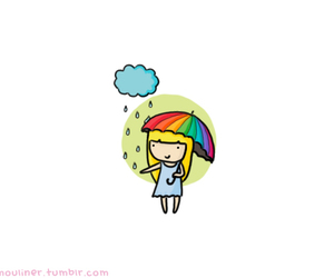 doodle, picture, and rain image