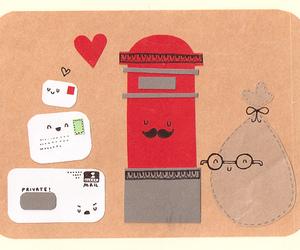 cartas, kawaii, and letters image