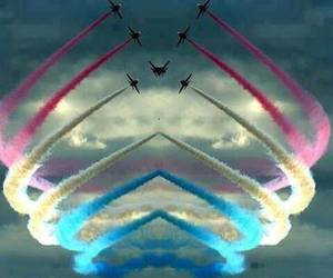 colors, plane, and sky image
