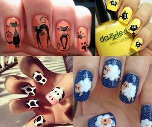 finger nails, lacquer, and nails image