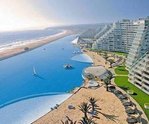 pool, chile, and beach image