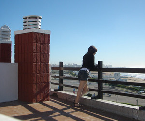 balcon, girl, and mar del plata image