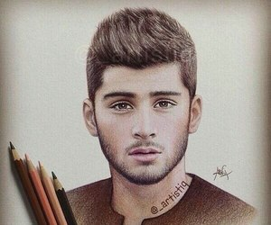 zayn malik, drawing, and one direction image