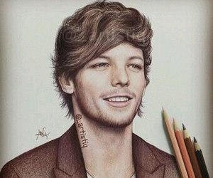 louis tomlinson, one direction, and drawing image